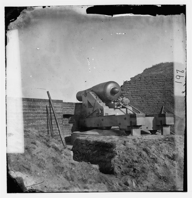 "Timothy H. O'Sullivan (1840-1882). '[Fort Pulaski, Ga. The ""Beauregard"" gun]' April 1862"