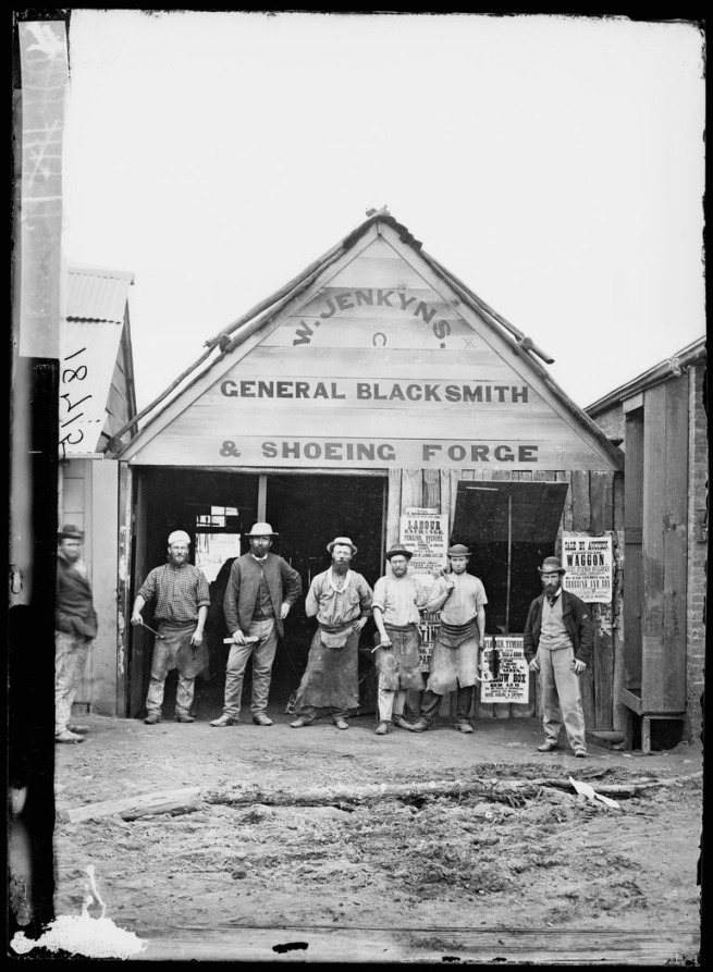 American & Australasian Photographic Company. 'Blacksmith William Jenkyns' 1872
