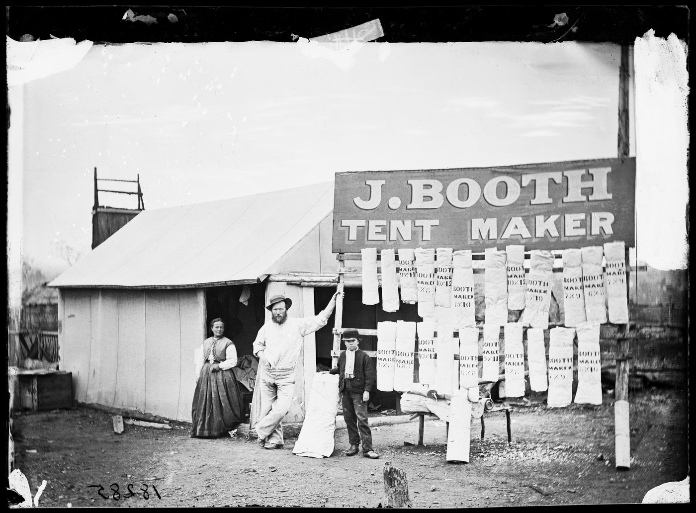 Charles Bayliss Tent city Home Rule 1872 In the early days of gold rushes miners usually lived in tents. Here tentmaker J. Booth has confidently u2026 & Charles Bayliss Tent city Home Rule 1872 In the early days of ...