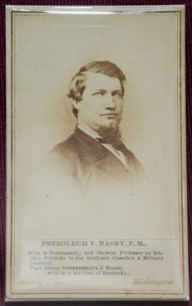 Matthew Brady & Co., 'Petroleum Nasby (David Ross Locke)' 1865