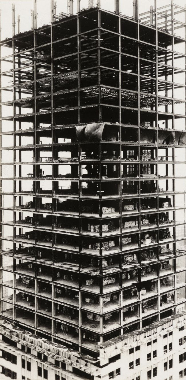 Walker Evans. 'Chrysler Building under construction, New York' 1929