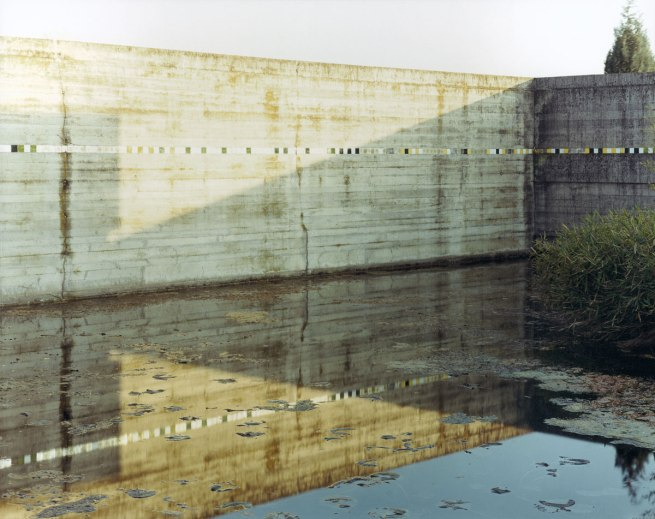 Guido Guidi. '#1176 01 29 1997 3:30PM Looking Southeast' From 'Carlo Scarpa's Tomba Brion' 