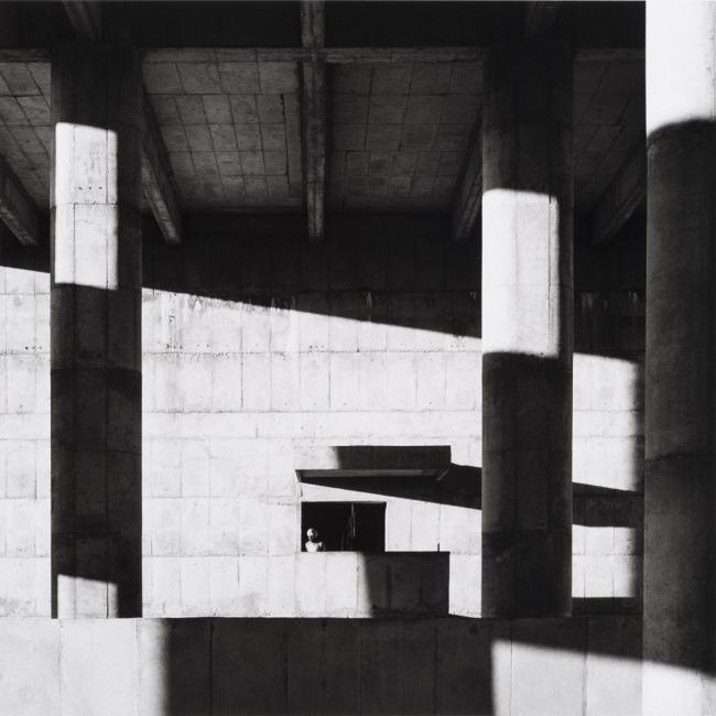 Lucien Hervé. 'Le Corbusier: Façade of the Secretariat Building, Chandigarh, 1961' 1961