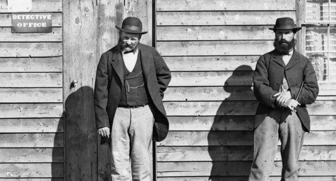 American & Australasian Photographic Company. 'The detectives' 1872 (detail)