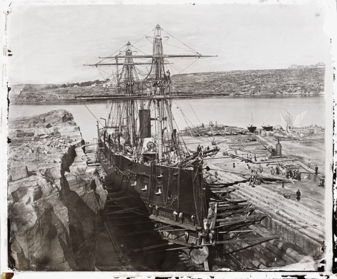 American & Australasian Photographic Company. '[French warship 'Atalante' at Fitzroy Dock, Sydney, 1873 / attributed to the American & Australasian Photographic Company]' 1873