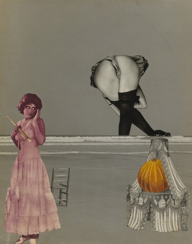 Georges Hugnet (French, 1906-1974) 'Untitled [Surrealist beach collage]' c. 1935