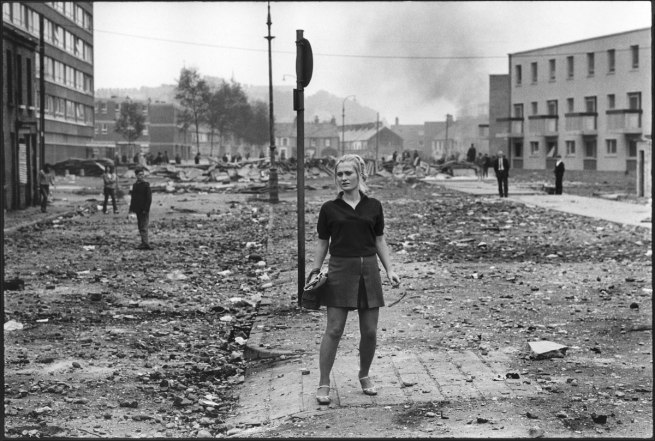 Gilles Caron. 'Protest rue Saint-Jacques, Paris, 6 May 1968' 1968