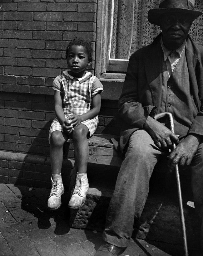 Gordon Parks. 'Grandfather and grandchild on Seaton Road, Washington, DC, 1942' 1942
