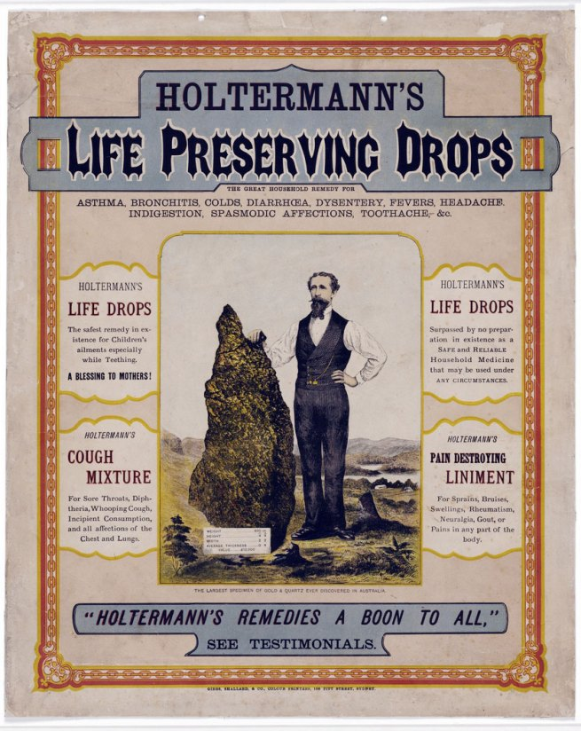 Gibbs, Shallard & Co., Colour Printers [188-?] 'Holtermann's Life Preserving Drops' 1872