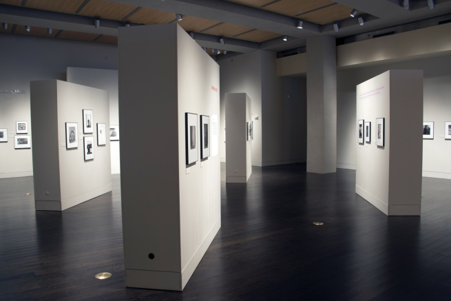Installation view of the exhibition 'Arnold Newman: Masterclass' at the Harry Ransom Center, The University of Texas at Austin