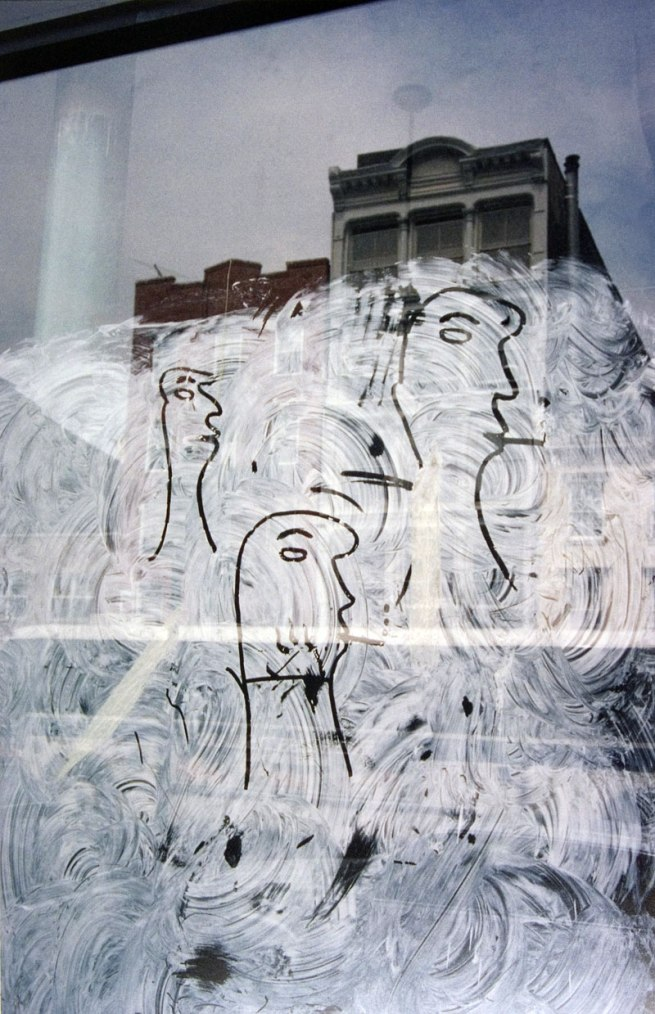 Saul Leiter. 'Graffiti Heads' 1950