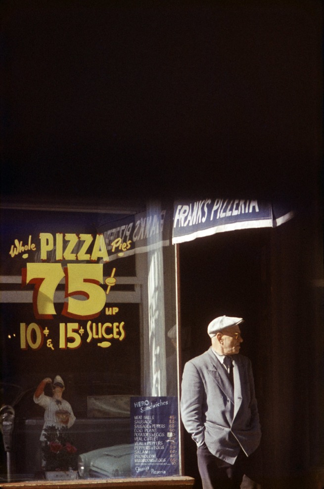 Saul Leiter. 'Pizza, Patterson' 1952