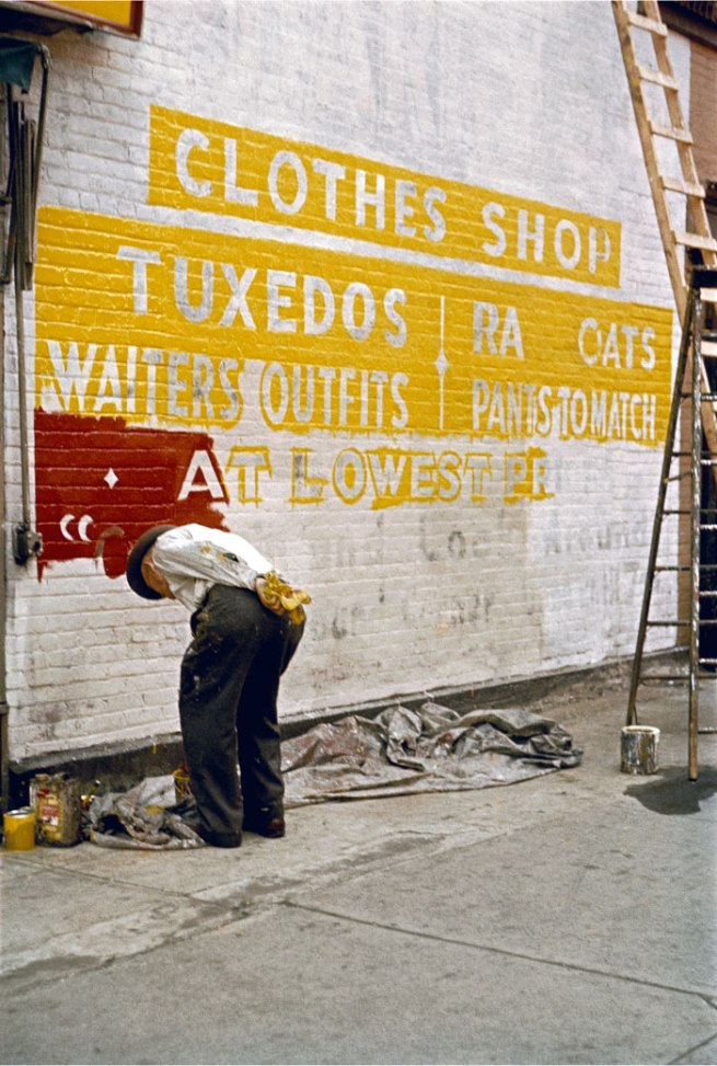 Saul Leiter. 'Sign Painter' 1954