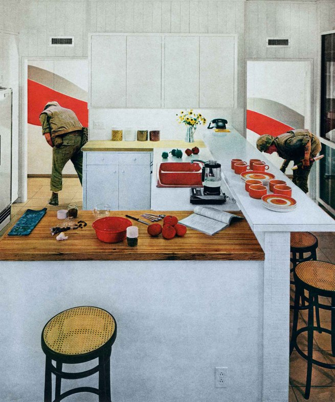 Martha-Rosler-Red-Stripe-Kitchen-from-the-series-House-Beautiful-Bringing-the-War-Home-1967-1972