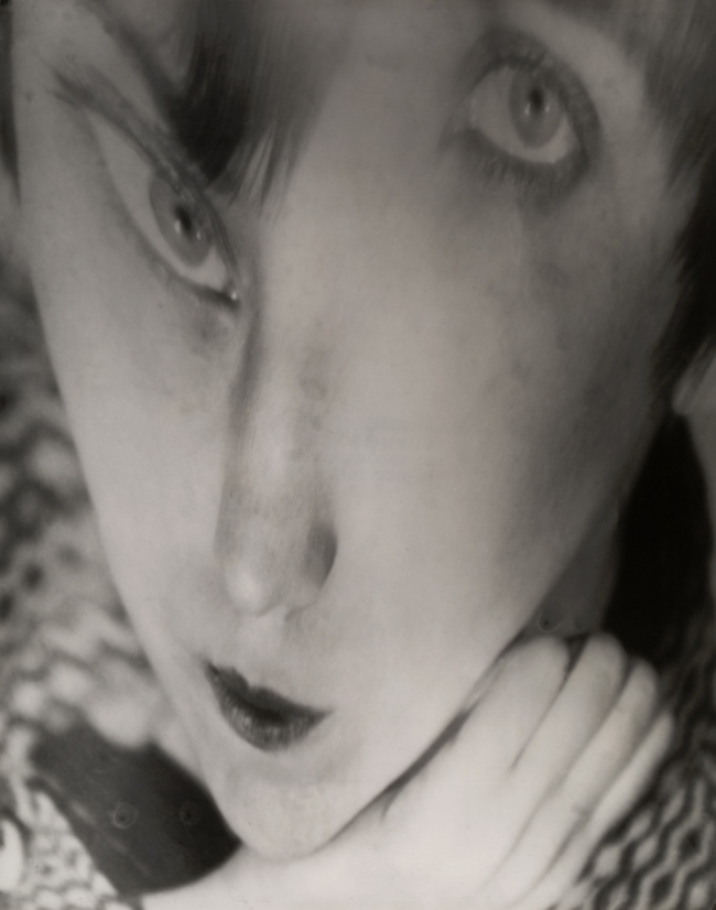 Berenice Abbott. 'Portrait of the Artist as a Young Woman' Negative c. 1930/Distortion c. 1950