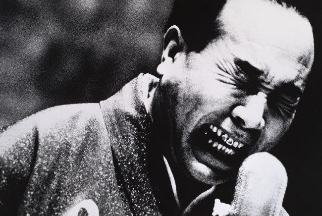 Daido Moriyama. 'Entertainer on Stage, Shimizu' 1967