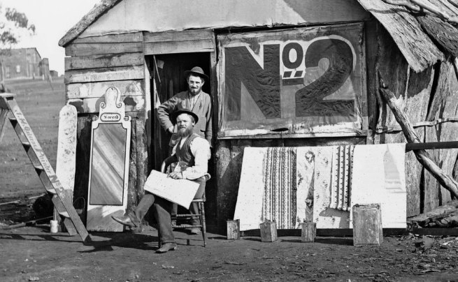 American & Australasian Photographic Company. 'John Osborne, painter and signwriter' 1872 (detail)