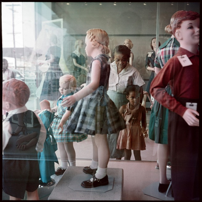 Gordon Parks. 'Ondria Tanner and Her Grandmother Window-shopping, Mobile, Alabama' 1956