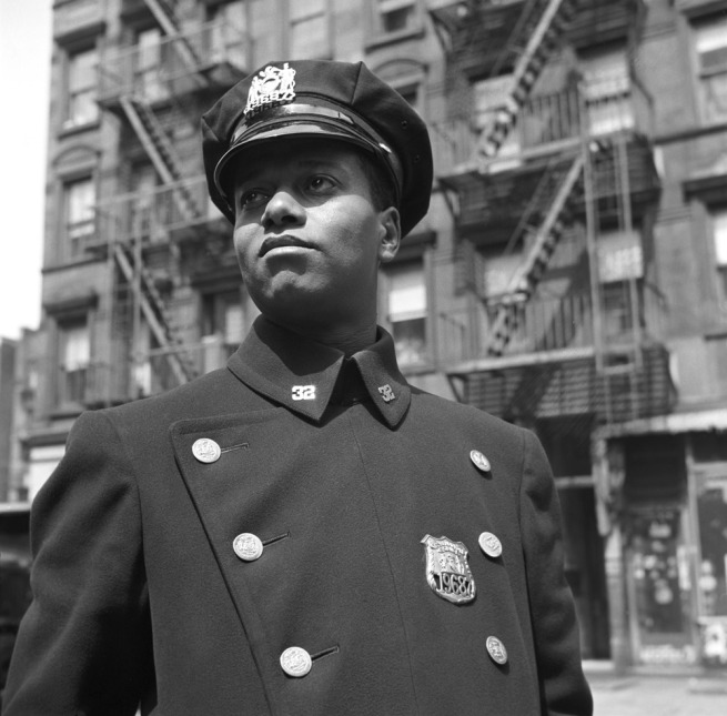 Gordon Parks. 'Policeman, badge no. 19687, NY, 1943' 1943