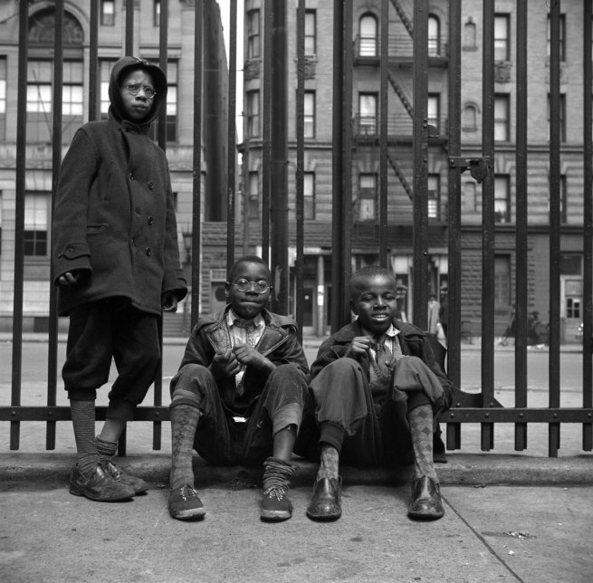 Gordon Parks. 'Street Scene: Three young boys, Harlem, NY, 1943' 1943