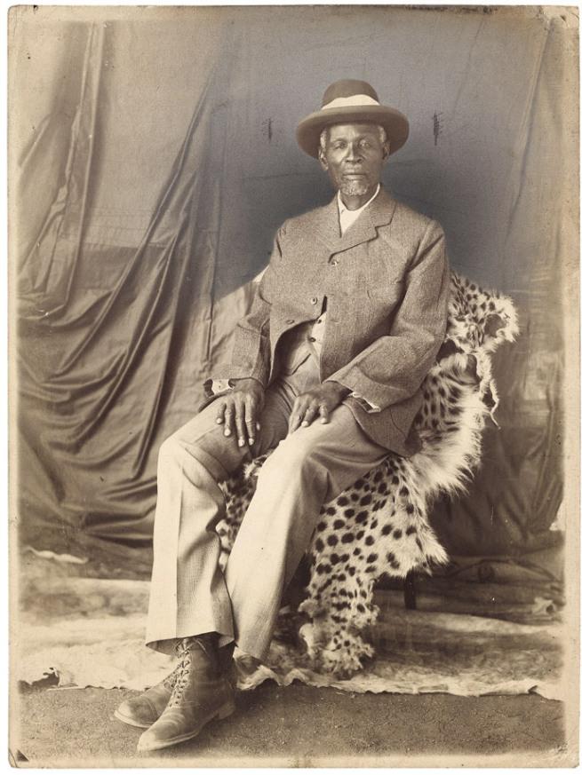 Unidentified photographer. 'Portrait of King Khama III' South Africa, early twentieth century