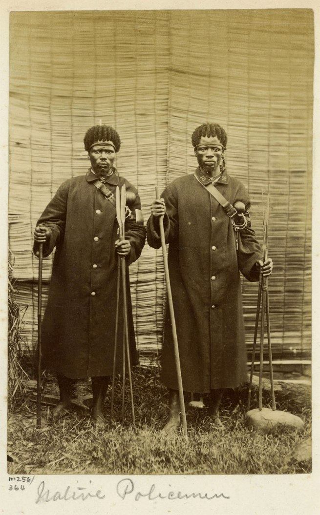 Unidentified Photographer. 'Native Policemen' South Africa, late nineteen century