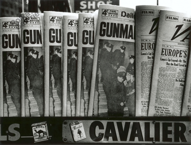 William Klein (American, born 1928) 'Gun, Gun, Gun, New York' 1955