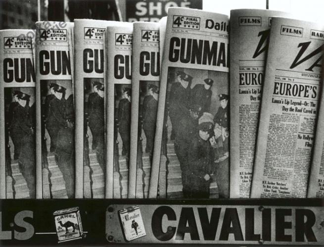 William Klein (American, born 1928) 'Gun, Gun, Gun, New York'  1955