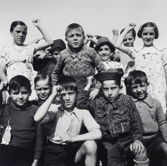 Edith Tudor-Hart (Austrian-British, 1908-1973) 'Untitled (Basque Refugee Children, North Stoneham Camp, Hampshire)' 1937