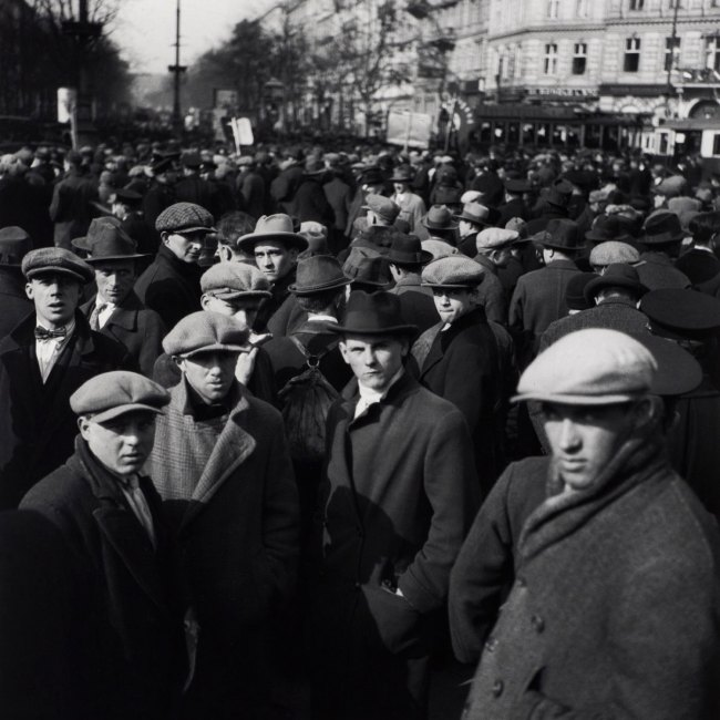 Edith Tudor-Hart (Austrian-British, 1908-1973) 'Untitled (Unemployed Workers' Demonstration, Vienna)' 1932