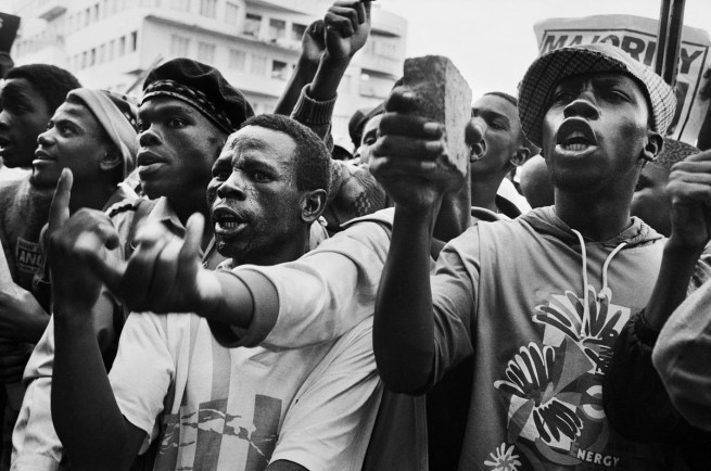 Jodi Bieber. 'Protest against Chris Hani's assassination' 1993
