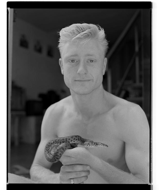Marcus Bunyan. 'Damien with snake' 1994