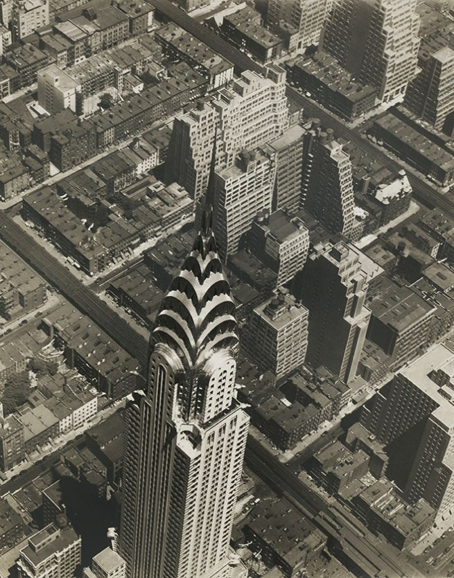 Fairchild Aerial Surveys, Inc. 'The Mount Everest of Manhattan: The Silvered Peak of the Chrysler Building' 1930