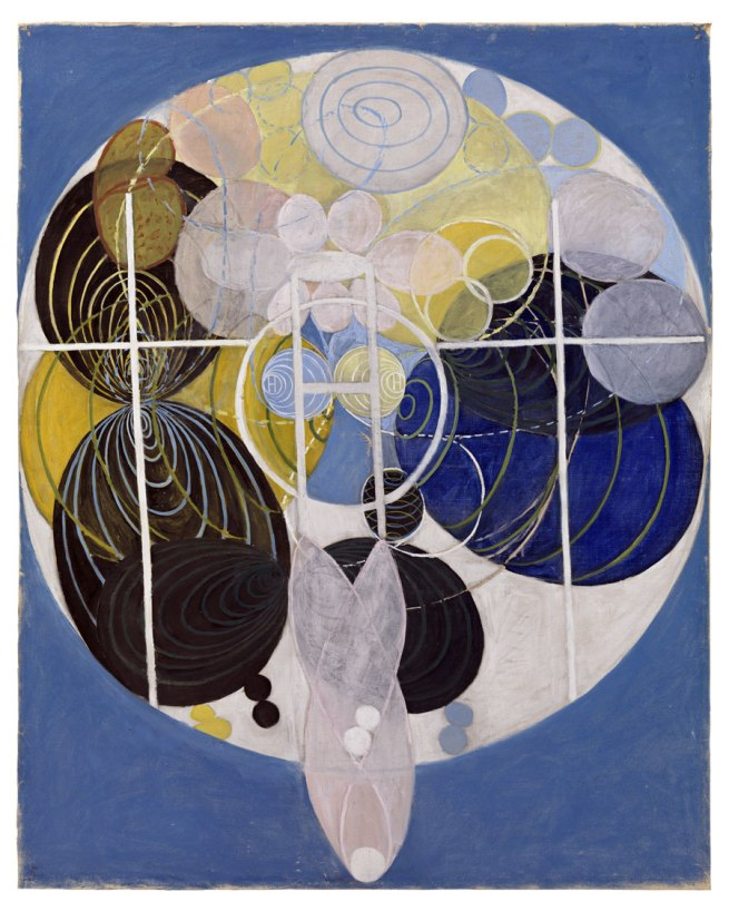 Hilma af klint. 'The Large Figure Paintings, No. 5, Group III, The Key to All Works to Date, The WU/Rose Series' 1907