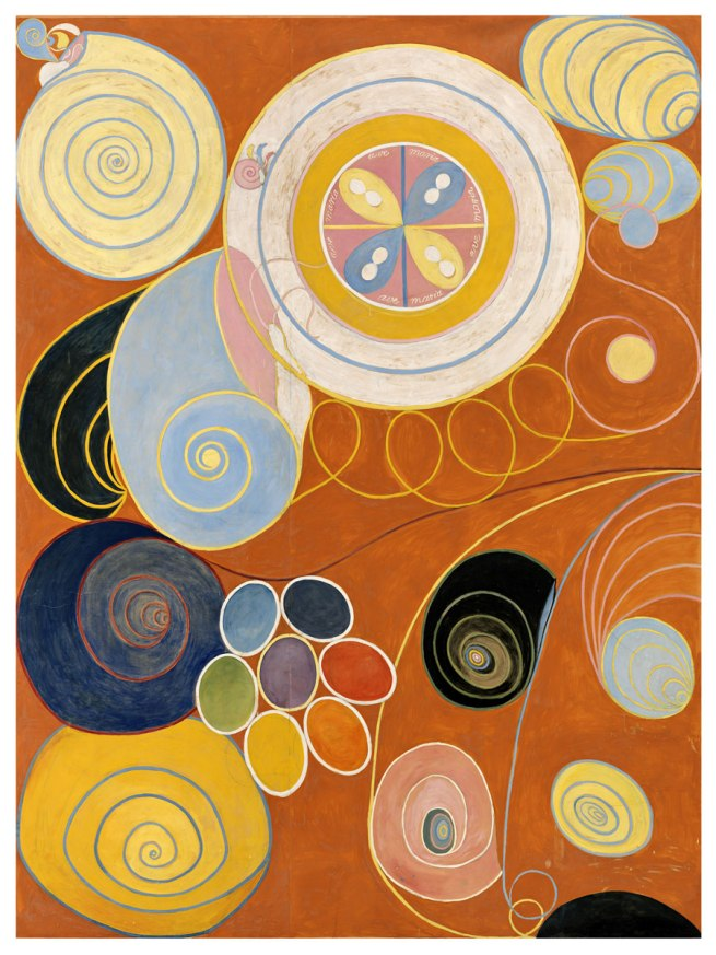 Hilma af Klint. 'The Ten Largest, No. 3, Youth, Group IV' 1907