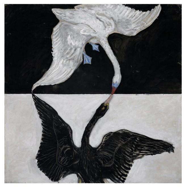 Hilma af Klint. 'The Swan, No. 1, Group IX/SUW, The SUW/UW Series' 1915