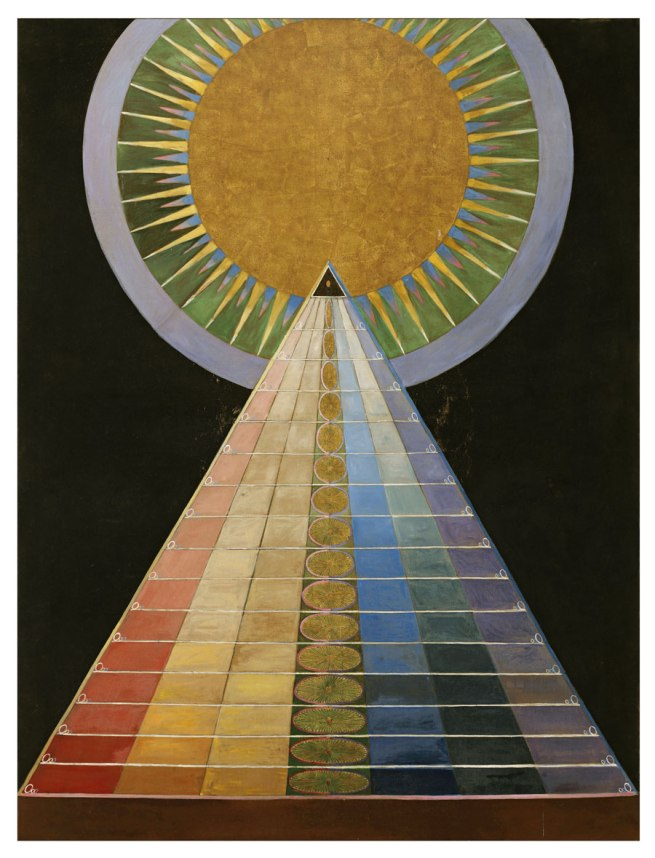 Hilma af Klint. 'Altarpiece, No. 1, Group X, Altarpiece Series' 1915