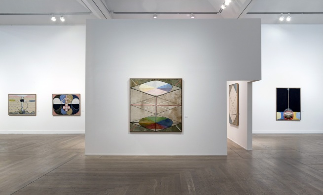 Installation views of Hilma af Klint - A Pioneer of Abstraction, 2013