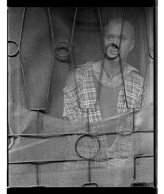 Marcus Bunyan. 'Jerry behind safety screen, Punt Road, South Yarra' 1994