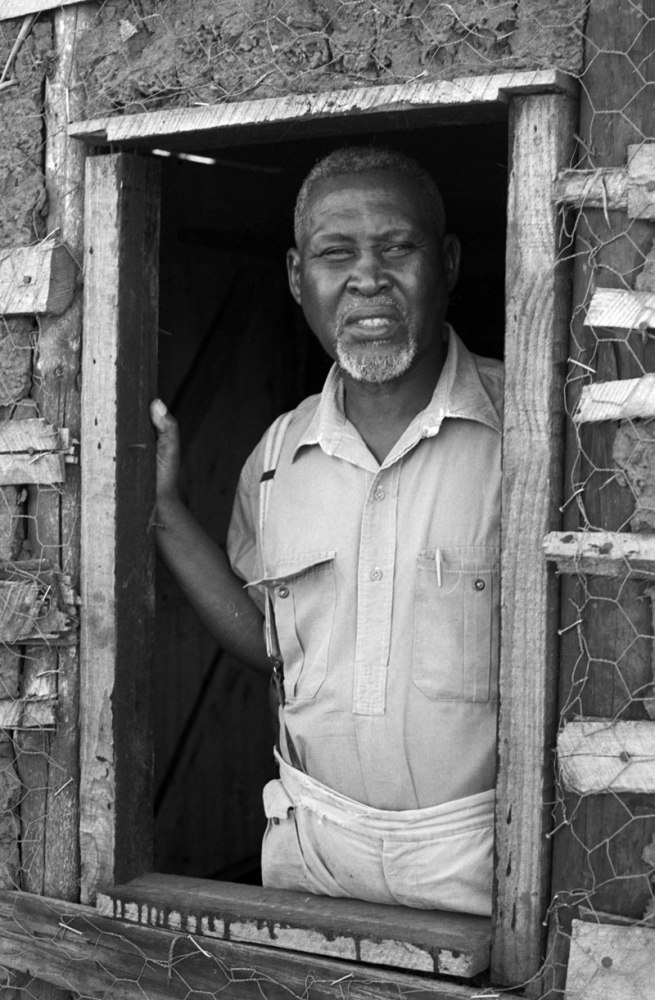 Ranjith Kally. 'Chief Albert Luthuli, former President General of the African National Congress, Rector of Glasgow University and 1960 Nobel Peace Prize Winner, gagged by the government from having any of his words published in his country, confined to small area around his home near Stanger in Natal, April 1964' 1964