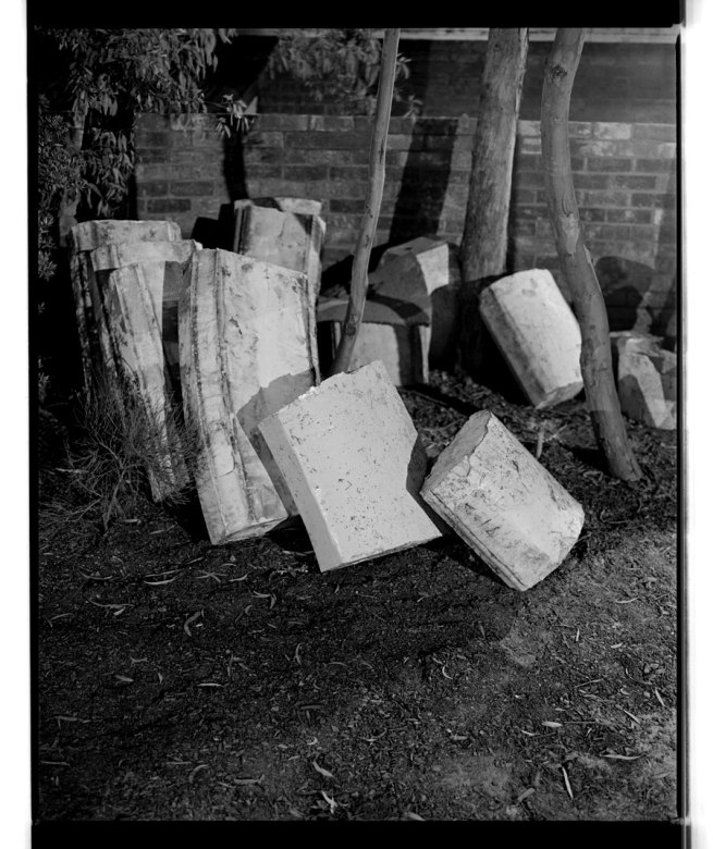 Marcus Bunyan. 'Trees, capstone, shadows' 1994