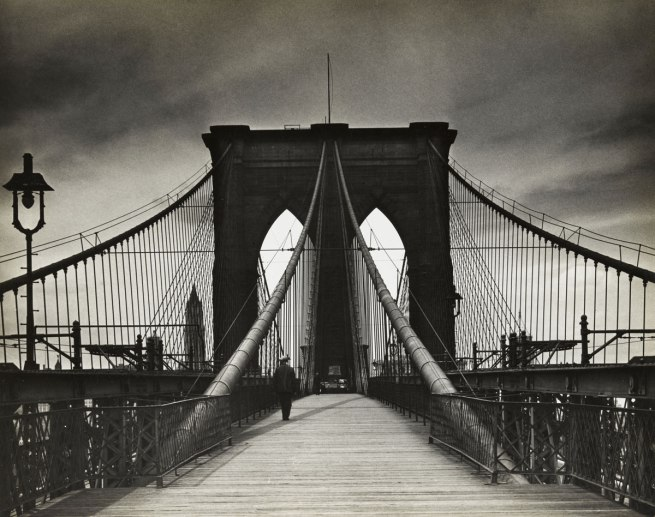 Alexander Alland (1902-1989, born Sevastopol, Ukraine) 'Untitled (Brooklyn Bridge)' 1938