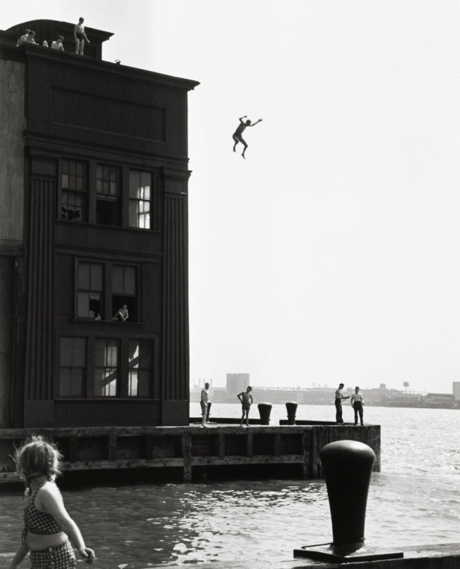 Ruth Orkin (1921-1985, born Boston, Massachusetts) 'Boy Jumping into Hudson River' 1948