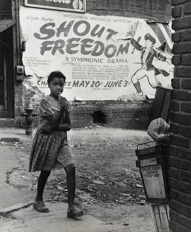 Rosalie Gwathmey (1908-2001, born Charlotte, North Carolina) 'Shout Freedom, Charlotte, North Carolina' c. 1948