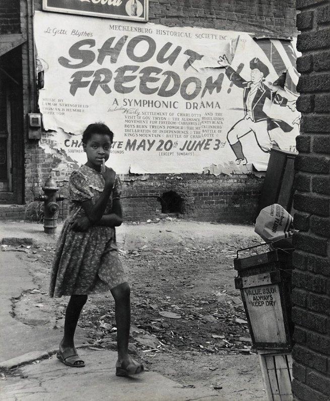 Rosalie Gwathmey (1908-2001, born Charlotte, North Carolina) 'Shout Freedom, Charlotte, North Carolina' c. 1948