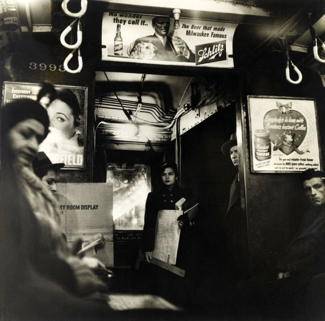 Sy Kattelson (born 1923, Manhattan, New York) 'Untitled (Subway Car)' 1949