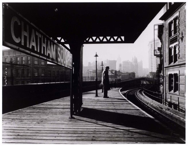 Arnold Eagle. 'Chatham Square Platform, New York City' c. 1939