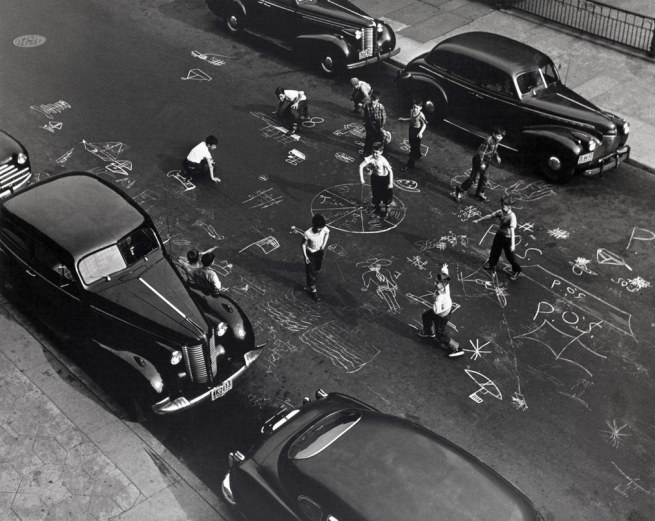 Arthur Leipzig. 'Chalk Games, Prospect Place, Brooklyn' 1950