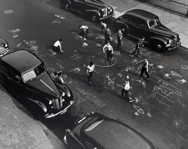 Arthur Leipzig. 'Chalk Games, Prospect Place, Brooklyn' 1950