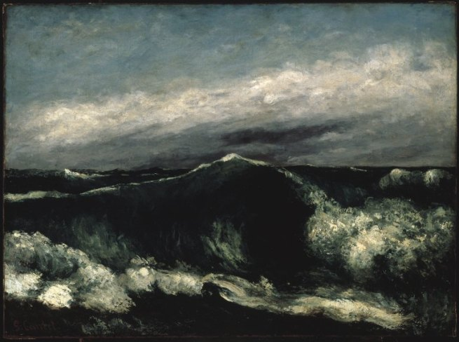 Gustave Courbet. 'The Wave' c. 1869